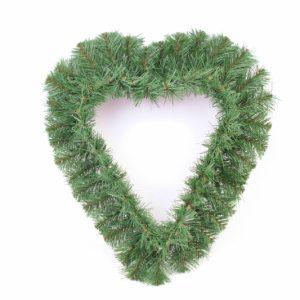 Herz offen groß - künstliche Nadeln - 40x40cm - Für Geschäfte und Künstler>Blumenarrangement>Künstliche grüne Kränze