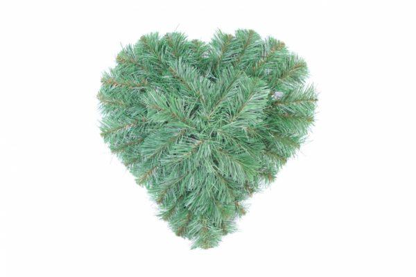 Kleines Herz - künstliche Nadeln - 40x40cm - Für Geschäfte und Künstler>Blumenarrangement>Künstliche grüne Kränze