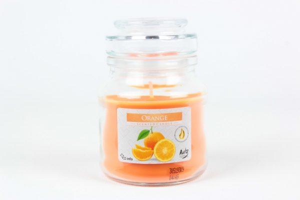 Duftkerze 120g./28h. Orange - Zuhause und Wohnen>Kerzen