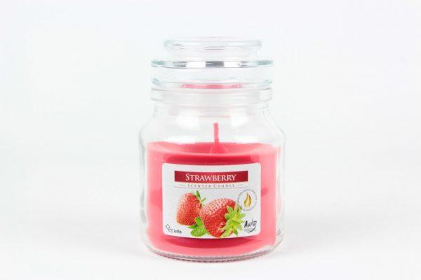 Duftkerze 120g./28h. Erdbeere - Zuhause und Wohnen>Kerzen