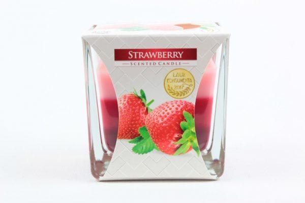 Duftkerze Erdbeere 170g./32h. - Zuhause und Wohnen>Kerzen