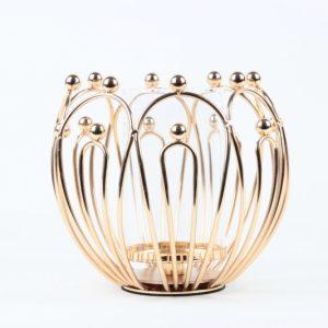 Kerzenständer Metall - Glas