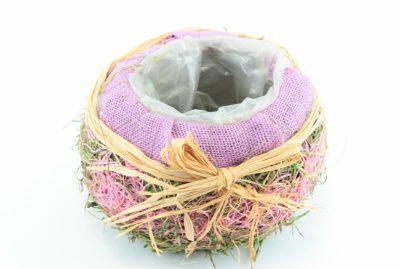 Korbabdeckung lila 1 - Für Geschäfte und Künstler>Blumenarrangement>Basis für Blumenarrangement