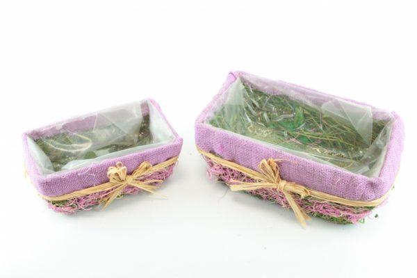 Korbabdeckung lila S / 2 - Für Geschäfte und Künstler>Blumenarrangement>Basis für Blumenarrangement