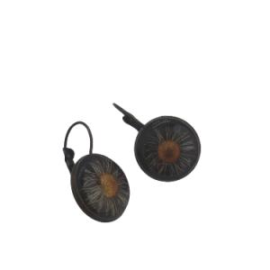 Bronze mit Löwenzahn - Schmuck>Ohrringe