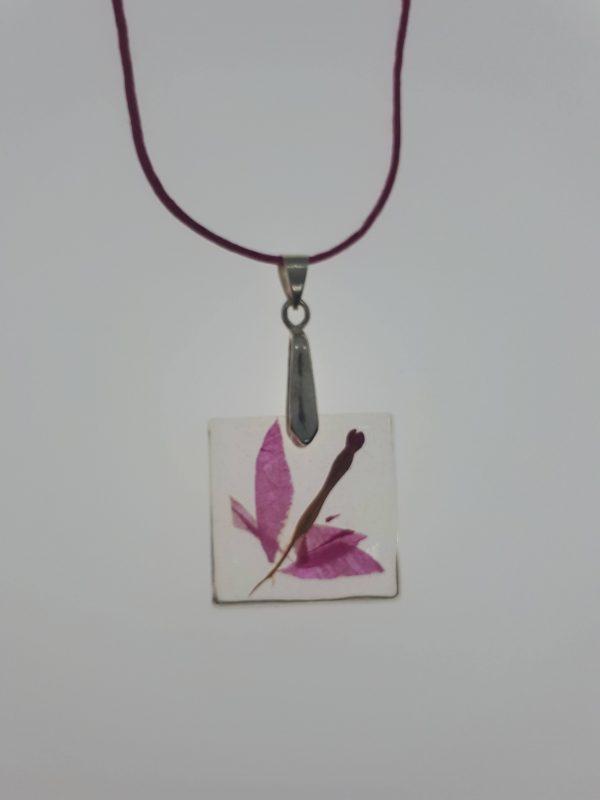 Rosa Blumenanhänger - Schmuck>Halsketten