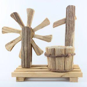 Blumentopf aus Holz mit Folie - Mühle - Für Geschäfte und Künstler>Blumenarrangements>Blumentöpfen und Körben