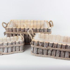 Holzbezug mit Folie (3 Stück) - Für Geschäfte und Künstler>Blumenarrangements>Blumentöpfen und Körben