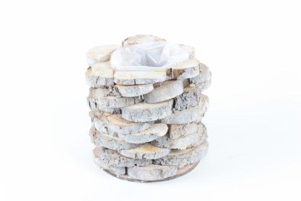 Holzkorb mit Folie grau - Für Geschäfte und Künstler>Blumenarrangements>Blumentöpfen und Körben