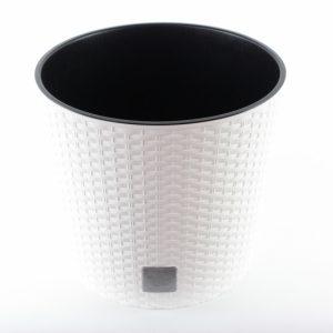 Kunststoff Blumentopf weiß - Für Geschäfte und Künstler>Blumenarrangements>Blumentöpfen und Körben