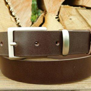 Ledergürtel 3 cm - Choco -