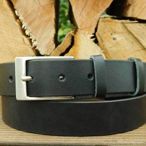 Ledergürtel 3 cm - Schwarz -
