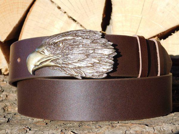 Ledergürtel 4 cm - Adler 2 -