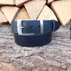 Ledergürtel 4 cm - Schwarz -