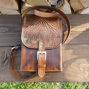 Lederhandtasche - Berge - Zubehör>Taschen und Brieftaschen