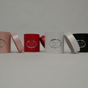 Pappdose rot - Für Geschäfte und Künstler>Blumenarrangements>Blumenboxen