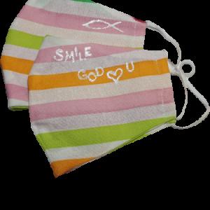 Gesichtsmasken set bunte Streifen - Zubehör>Gesichtsmasken