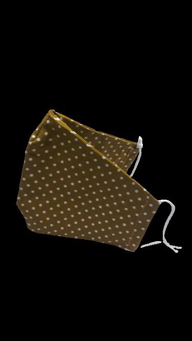 Gesichtsmaske olivgrün mit kleinen weißen Tupfen - Zubehör>Gesichtsmasken