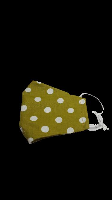 Gesichtsmaske olivgrün mit weißen Tupfen - Zubehör>Gesichtsmasken
