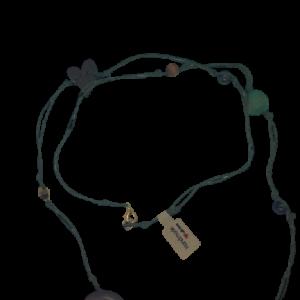 Halskette grün und braun - Schmuck>Halsketten