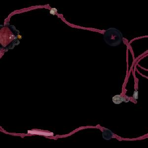 Halskette rosa Schnur